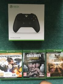 Xbox one X Controller Version 2/ COD WW2/ State of Decay 2/ Overwatch GOTY. All new and sealed.