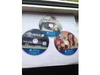 3 x PS4 games