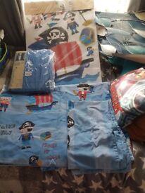 Next little pirates set bedding curtains