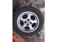 MAZDA MX5 ALLOYS WHEELS COMPLETE SET WITH TYRES 14 INCH 4 SPOKE GOOD TYRES DELIVER