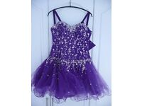 Small Girls Ladies Kids Mori Lee Evening Ball Gown Party Prom Dress Purple Sequins size 5 / 6