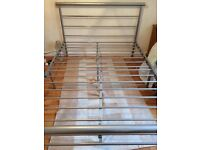 Metal frame double bed 4ft 6ins