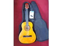 Stagg C530 3/4 Size Handmade Classical Guitar (Unused) with Stagg Bag & Tuner