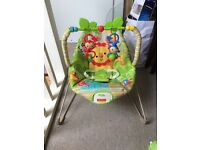 Fisher price rainforset bouncer like new