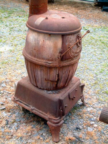 """Parts, U.S. Army # 20, Rare Cannon Heater Wood Stove Parts, Pot Belly 55"""" X 29"""""""