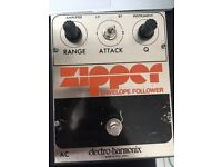 Vintage electro harmonic zipper guitar pedal