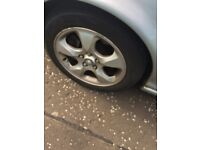 FORD JAGUAR X TYPE ALLOYS 16 INCH VERY GOOD TYRES