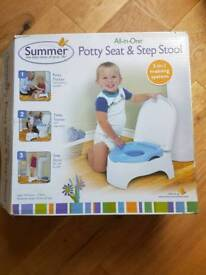 Potty seat and step stool