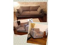 NEXT Three piece suite, sofa, sunggle/love seat and chair
