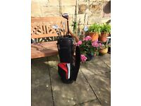 Junior golf bag and 4clubs
