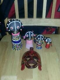 African Decorative Mask & Figures