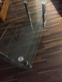 Coffee table, glass. From smoke free pet free home. No scratches perfect used condition