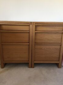 3 Draw Oak Cabinet - Excellent condition as new 2 available