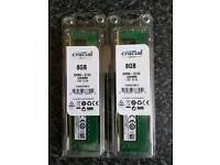 CRUCIAL 16GB DDR4 2133MHz ( 2 x 8GB )