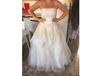 Stunning strapless wedding dress