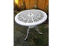 Vintage cast iron pretty table