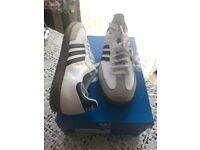 Adidas Samba Trainers adidas Originals, White, Gum sole UK 13
