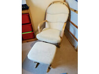 Glider Chair (Dutailer) and foot stool - Used in good codition