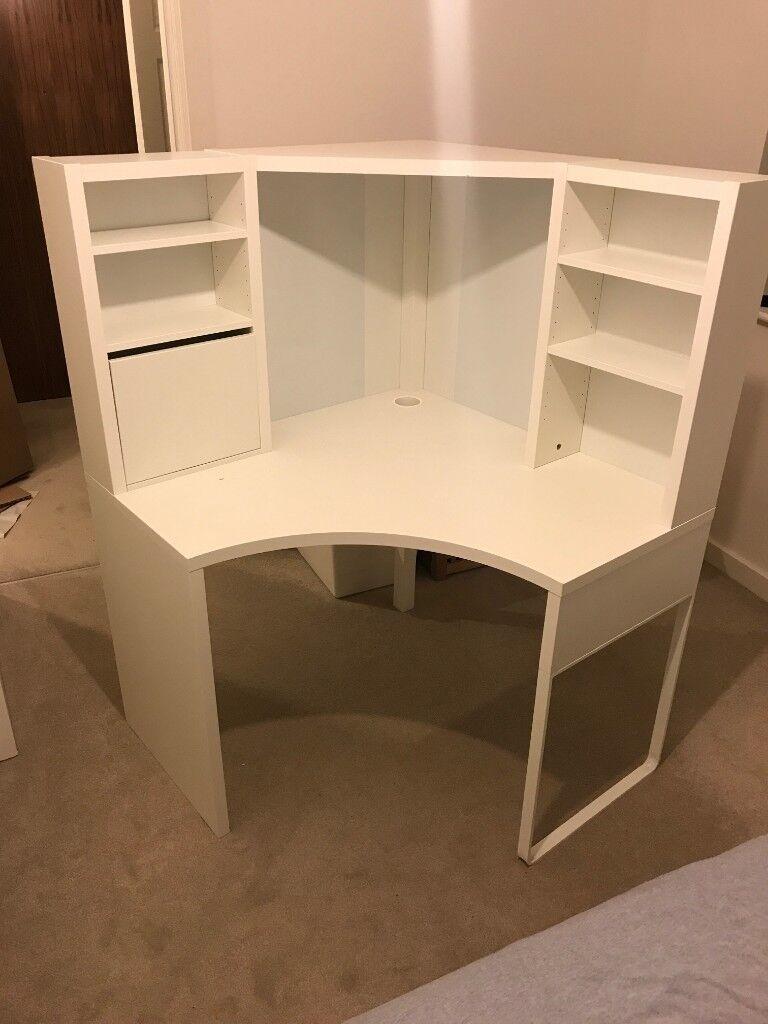 Ikea Micke Corner Workstation Table Desk Immaculate