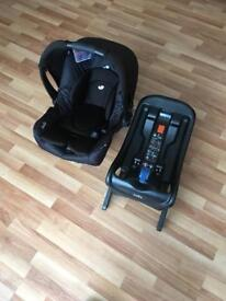 Joie isofix car seat with base