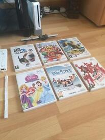 Nintendo Wii and 6 games