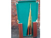 Used, but very good condition, children's pool table. Includes cues and balls.
