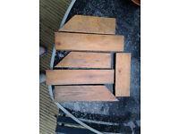 Re-claimed, wooden parquet flooring blocks
