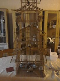Wooden bird cage very nice item of furniture