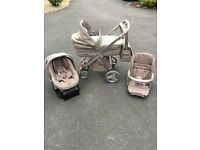 Bebecar Ip-Op Evoltuion Carry Cot, Pushchair and Car Seat (Travel System)