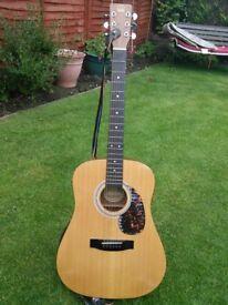 Vintage Acoustic Hondo Guitar