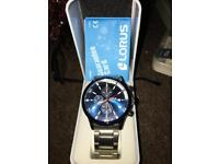 Lorus chronograph watch 'blue face) waterproof-New