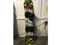 KIDS SNOWBOARD and BINDINGS- ROME SDS LABEL 135cm with WEDZE bindings