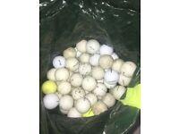 50+ GOLF BALLS Match & Practice Quality