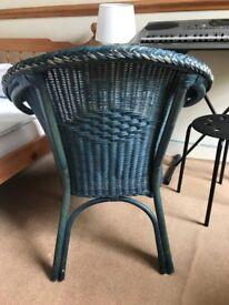 Wicker Arm Chair (Blue)