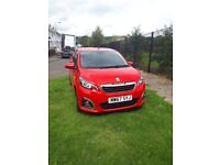 01/2018 PEUGEOT 108 ALLURE 1.2 PETROL (ONLY 1743 mileage!!!!!!!!!!)