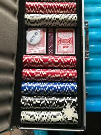 Pro poker professional chip set never been used