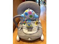 Chicco Grey Balloon Bouncer/Rocker with vibrating seat