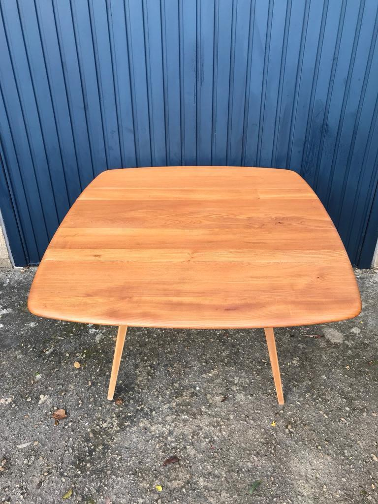 Ercol Square Drop Leaf Table Sstc