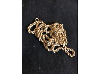 Men's/women's 18ct solid gold rope chain