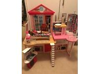 **Barbie House, Doll, Car and Speed Boat**