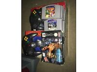 Nintendo 64 boxed console and games bundle