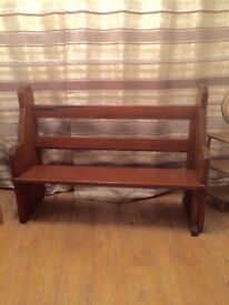 """church pew.shortened to a manageable length of 4' 7"""" (140cm)"""