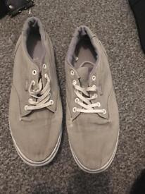 Grey size 6 vans