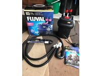 Fluval 106 ex filter for fish tank v g c nearly new with pipe and box look pic
