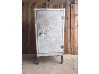 Industrial vintage metal floor standing cabinet - lovely piece