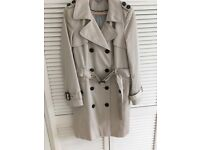 Ladies beige raincoat short length size 14 Marks and spencer only worn once