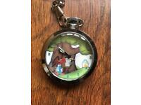 Pocket watch manual wind automaton - Woody Wood Pecker