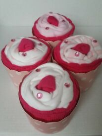 Onesie cupcake baby shower gift