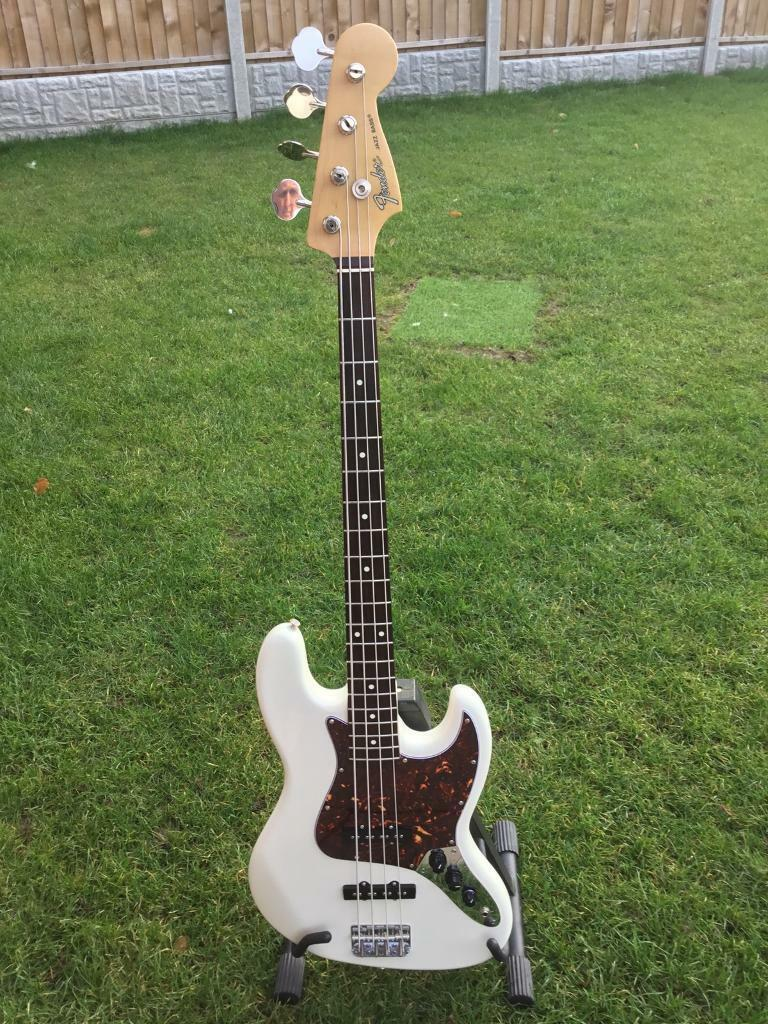 Immaculate 1988 Crafted in Japan Fender Jazz Bass in Olympic Geddy Lee USA  pickups  Gator case   in Kelsall, Cheshire   Gumtree