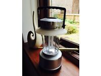 Camping lamp, washing line, electric hook up, water carrier and heater